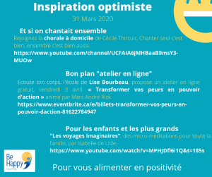 inspiration optimiste 31 mars 20